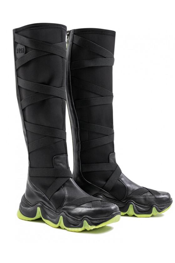 Kožené boty na zip